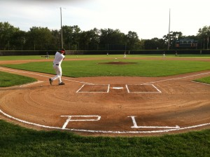 Morrison Rips infield fungos prior to PL Mudcats 10-0 7 inning blanking of Webster in Region 3C Playoffs 2012.